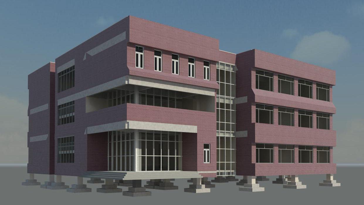 Revit 教学楼项目模型