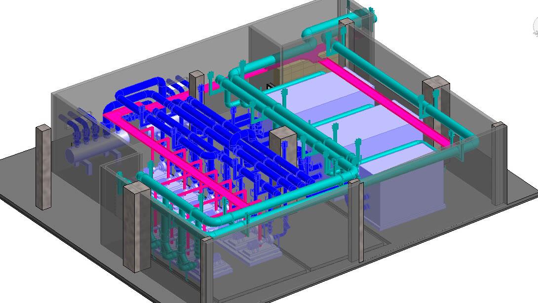 Revit 冷冻机房模型
