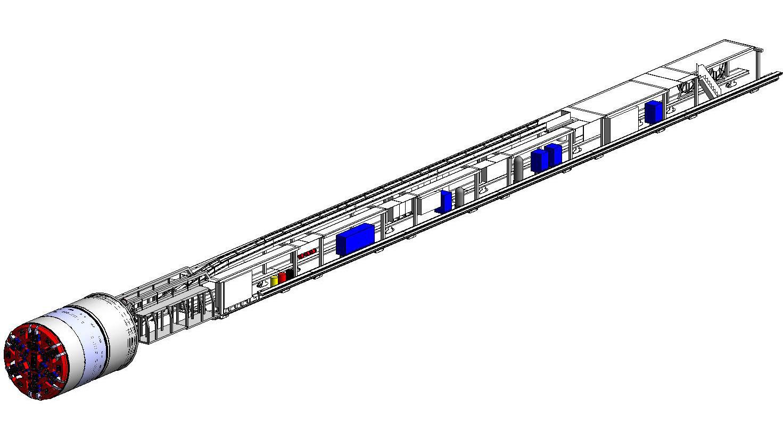 Revit盾构机模型