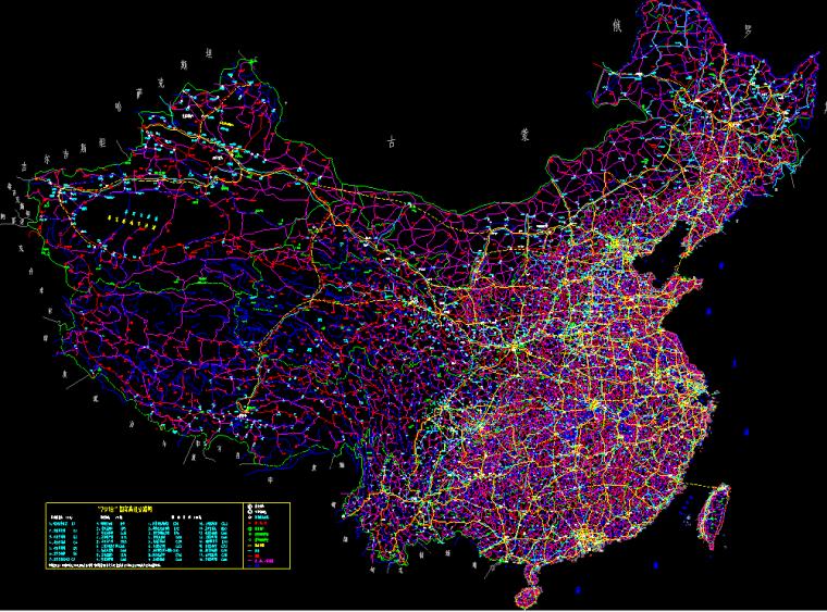 中国地图CAD完整版